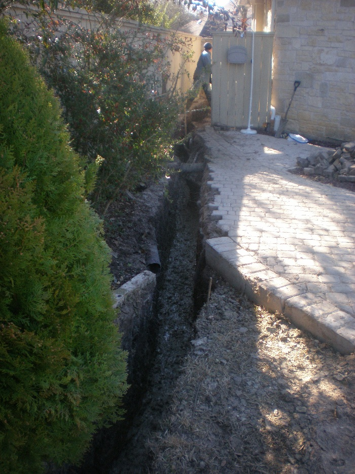 Drainage correction milton 39 s drainage foundation for Residential trench drain