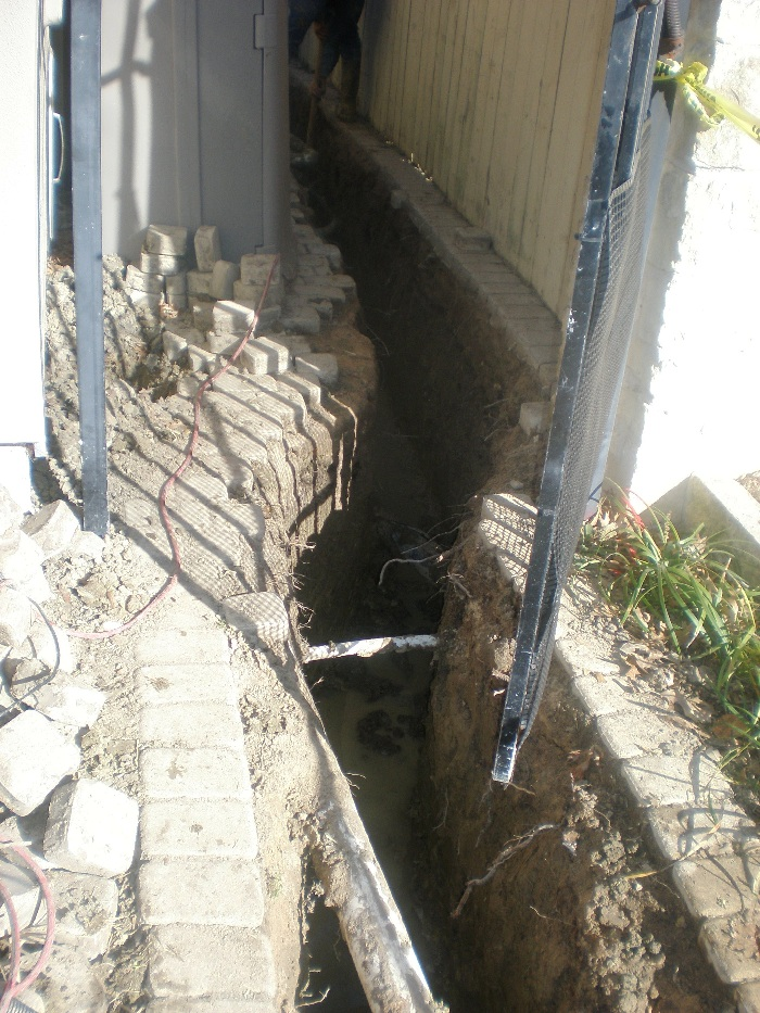 Drainage correction milton 39 s drainage foundation for Residential french drain